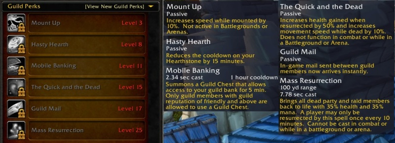 Warlords guild perks