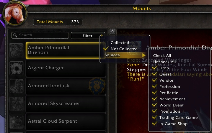 Mounts: In game missing mount discovery