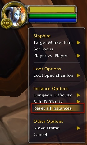 How to reset an instance