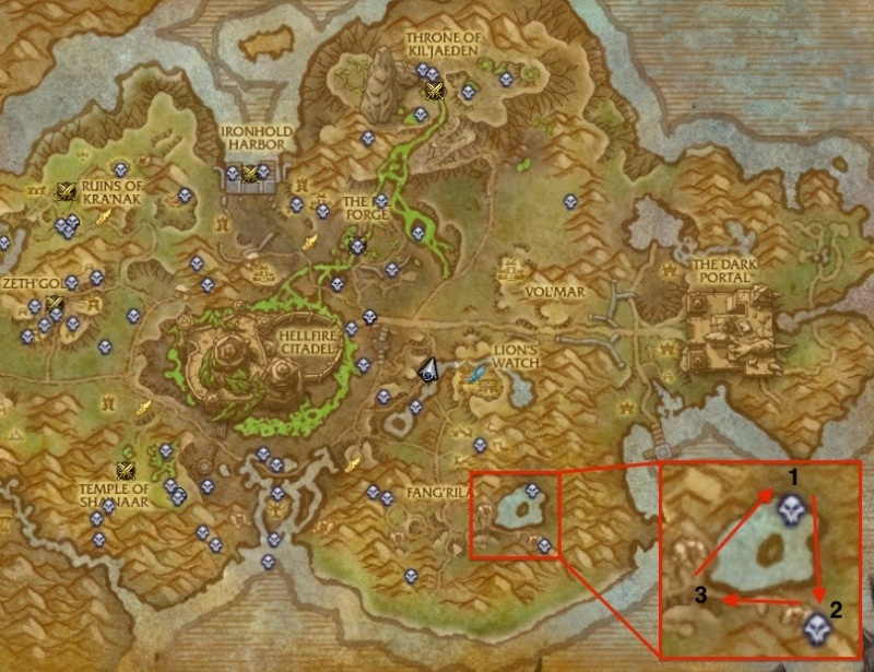 Where to farm Blackfang mobs